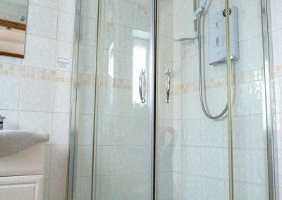 Shower room in the Talbot Arms B&B
