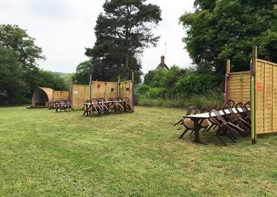 Beer Garden Social Distancing Tables - The Talbot Arms Free House Uplyme