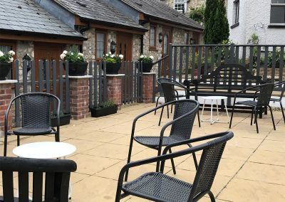 Beer Terrace Distancing Tables - The Talbot Arms Free House Uplyme