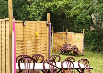 Beer Garden Distancing Tables - The Talbot Arms Free House Uplyme